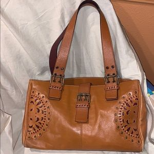 EUC Hype shoulder bag tote leather Boho